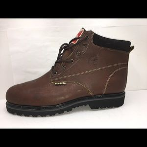 Mens Work Boots Leather Safety Steel toe